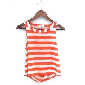 Jack by BB Dakota Crop Top Orange Stripe XS